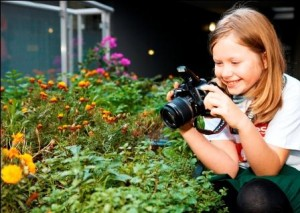 Get the kids outside taking photos in the garden today