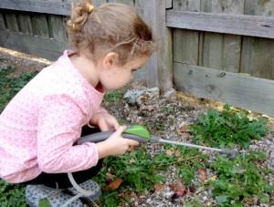 Vinegar makes a good eco-friendly, kid-friendly weed killer