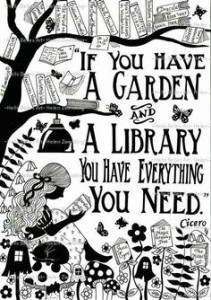 garden book library quote