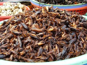 Crickets are a snack food in Cambodia and Vietnam