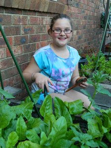 Sophia and Her Veggie Patch