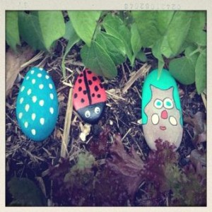 kids love pet rocks for the garden